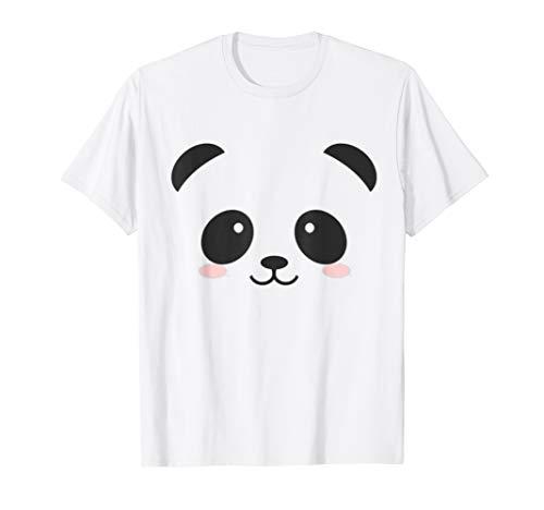 Cute Halloween Panda Bear Face T-shirt Costume Kids Gift T-Shirt