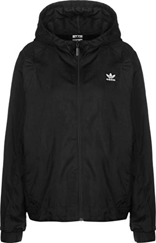 adidas Womens Windbreaker Jacket, Black, 38