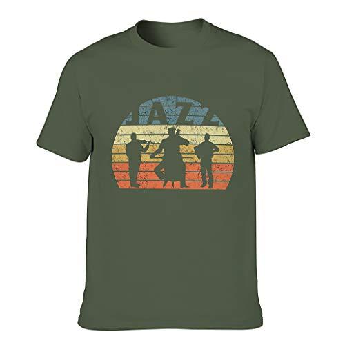 FFanClassic Camiseta de algodón para hombre Jazz Novedad Funny Ultra Soft - Print Tops