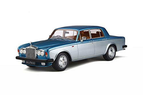 GT Spirit Rolls Royce Silver Shadow II 1977 Silber blau Modellauto 1:18