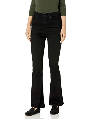 Signature by Levi Strauss & Co. Gold Label Juniors High Rise Flare Jeans, black Opal, 1