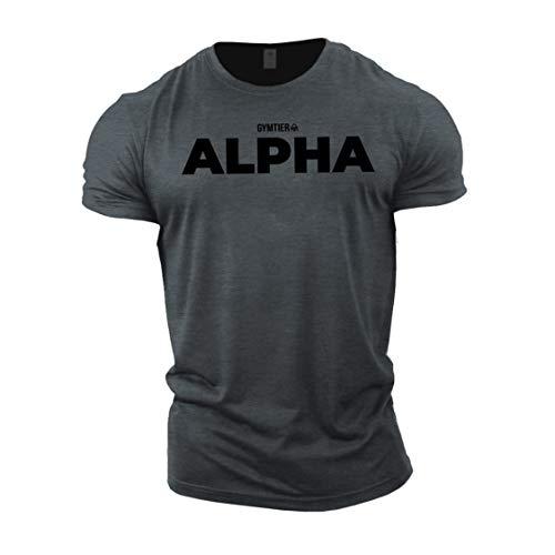 GYMTIER Alpha - Bodybuilding-T - Shirt   Herren Fitness T-Shirt Muskelshirt Trainingsbekleidung