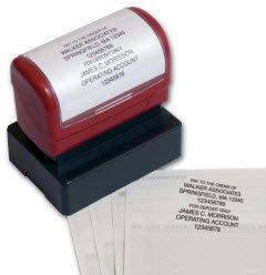 EGP Endorsement Stamp, Pre-Inked, Impression Area 1 13/16 x 1 1/16, Black Ink