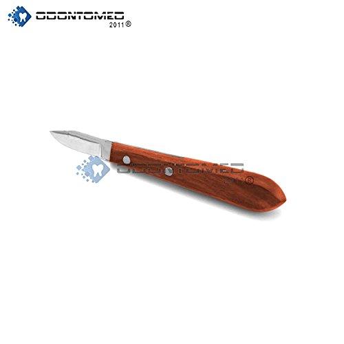 OdontoMed2011 NEW PLASTER KNIFE 6R WITH WOODEN HANDLE DENTAL LAB INSTRUMENTS