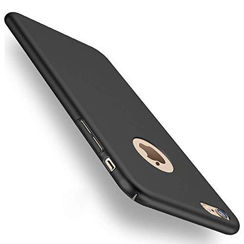 heevey Hülle Kompatibel mit Apple iPhone 6 Plus & 6S Plus | Ultra Dünne Hard-case Schutzhülle FeinMatt Anti-Fingerabdruck Schwarz