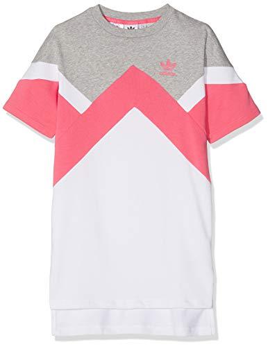 adidas J M Ft Vestido de Tenis, Niñas, Multicolor (brgrin/rosrea/Blanco), 140 (9/10 años)