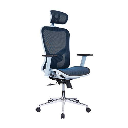 Techni Mobili Mesh Office Chair, Blue