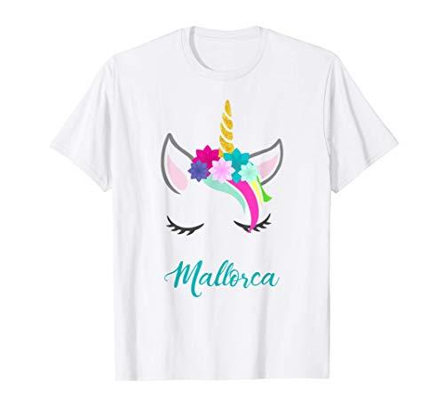 T-Shirt Personalizada Nombre Mallorca Unicornio Camiseta