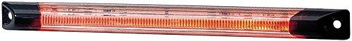 HELLA 2XS 008 078-001 Umrissleuchte - LED - 24V - Lichtscheibenfarbe: glasklar - LED-Lichtfarbe: rot - Anbau - Einbauort: seitlicher Anbau