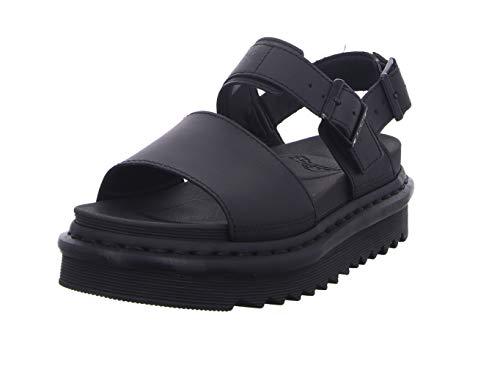 Dr. Martens Women's Voss Fisherman Sandal, Black Hydro Leather, 8