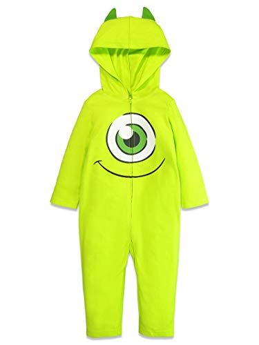 Disney Pixar Monsters Inc Mike Wazowski Toddler Boys Costume Zip-Up Coverall 4T
