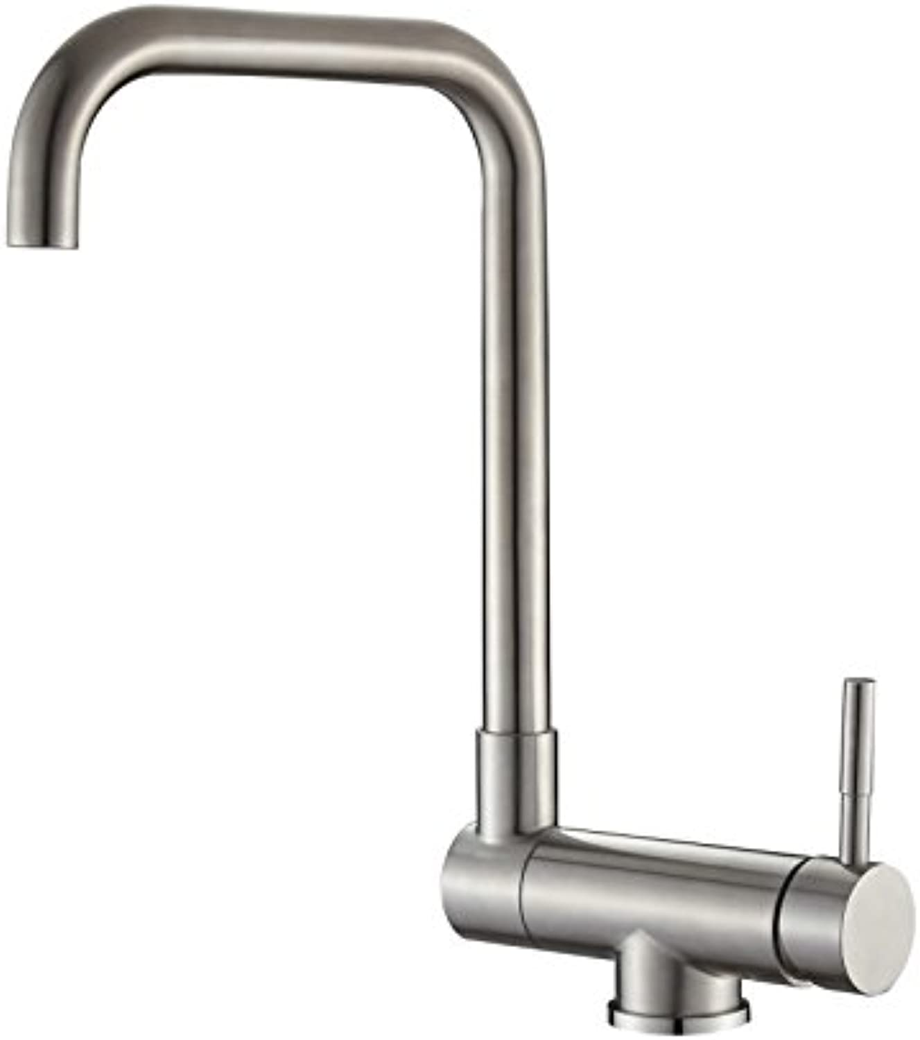 Mangeoo Folding redating Inner Window Kitchen Faucet 304 Stainless Steel Brushed Sink Sink Hot and Cold Water Faucet