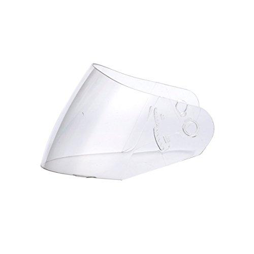TRIANGLE Full Face Dual Visor Matte Black Street Bike Motorcycle Helmet (Visor, Clear)