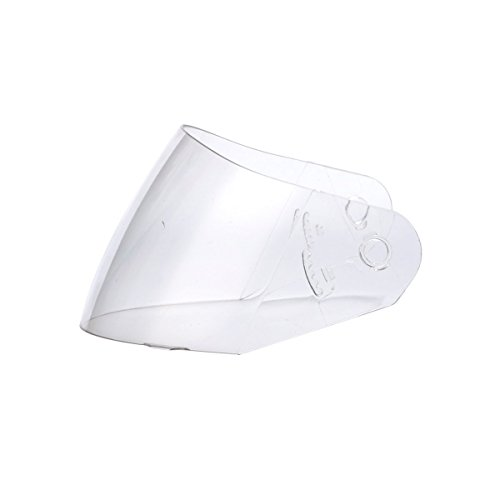 Triangle Clear Replacement Visor Face Shield for Full Face Dual Visor Motorcycle Helmet Model #TFF17 (One Size)