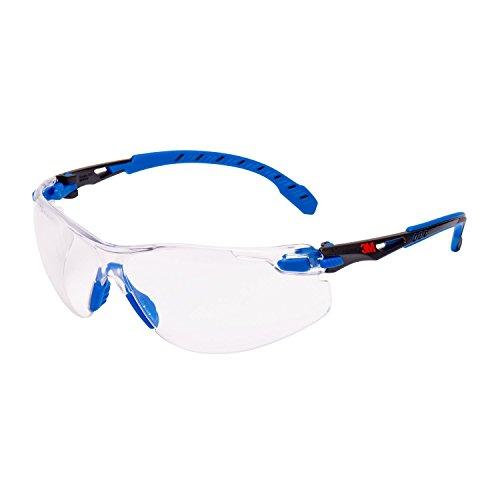 Solus s1101s Sicherheit Gläser, anti-fog, Clear Lens, blau/schwarz Rahmen