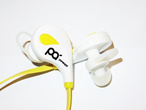 Bluetooth Sport Stereo Headphone: True~Sound White Premium Wireless Hands-Free Earbuds with Microphone, Enjoy Ultimate Freedom & HD CD Sound, Best Headset for Running & Outdoor, Excellent Noise-Cancelling, Works Seamlessly on iPhone, Android Smartphones and Almost Any Device, Original Product, 100% Satisfaction & Outstanding Service Guaranteed By Ponapp (White Color)