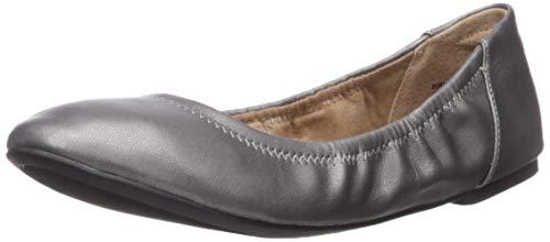 Amazon Essentials Belice Ballet Flat Zapatos Bailarinas, Gris metálico, 43