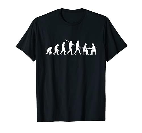 Evolución ajedrez jugador de ajedrez juego de ajedrez piezas Camiseta