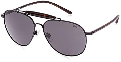 Ralph Lauren POLO 0PH3106 Gafas de sol, Semi Shiny Black, 60 para Hombre