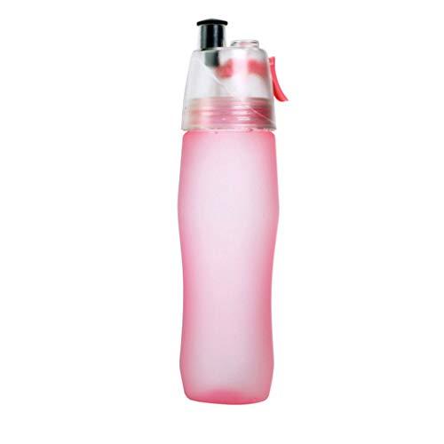 WTALL Outdoor Sports Spray Botella de Agua portátil 700-740ML Plástico Transparente Antifugas