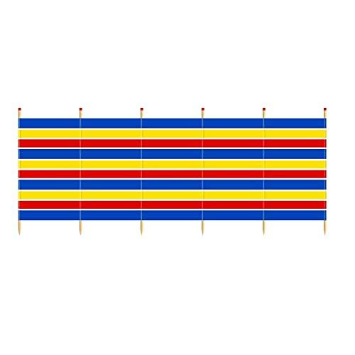 Yello Unisex's WB068 5 Pole Tall Windbreak, Beach Shelter, 1.5m, Multi-Coloured, 150 x 371 cm