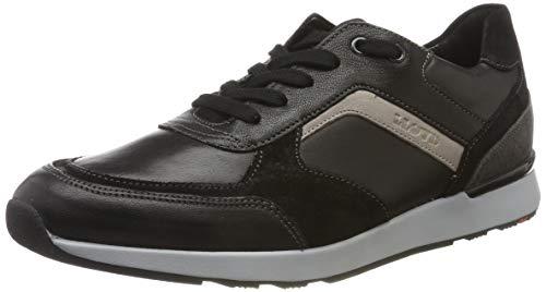 LLOYD Herrenschuh BARI, moderner Herren-Sneaker aus Leder mit Gummisohle, Schwarz (Schwarz/Anthrazit/Grey 1), 42 EU
