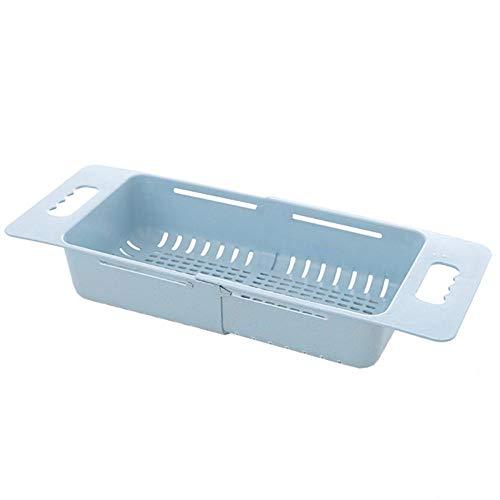 Cesta telescópica de Verduras Cesta de Verduras Cesta de Drenaje de plástico para Cocina Fregadero de Fregadero Cesta de Lavado de Cocina-B_España