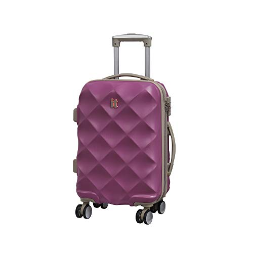 it luggage Debossed Diamond Maleta, 55 cm, 45 Liters, Rosa (Dahlia Mauve)