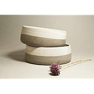Zwei Handarbeit Keramikschüssel set für den Hund – 600 ml. Keramik Hundenapf Futternapf Fressnapf Napf katzennapf für…