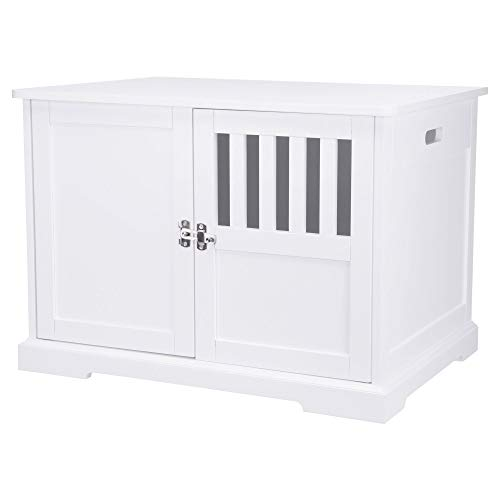 Save %31 Now! Trixie Pet Products 39523 Wooden Pet Crate/End Table Kennel, M: 75 x 53,3, White,Mediu...