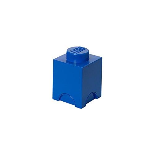 LEGO Aufbewahrungsstein, 1 Noppe, Stapelbare Aufbewahrungsbox, 1,2 l, blau