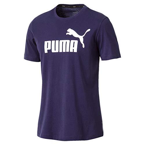 PUMA Herren ESS Logo Tee T-Shirt, Blau (Peacoat), Gr. S