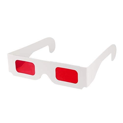 DealMux Secret Decoder Brille Rot-Rot Filter Linse Weiß Faltbarer Rahmen 3D Brille 5St