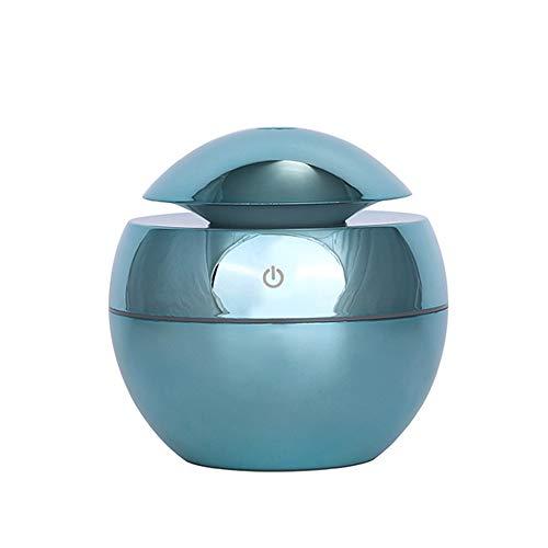 LED-kleur USB aroma etherische olie diffuser luchtbevochtiger mini brander diffuser 130ml 7 licht automatische uitschakeling brons