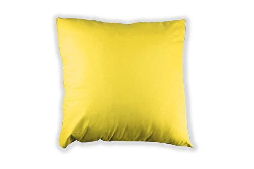 MERINO BETTEN 2er Set Kissenbezug 35 x 35 cm | Kissenhülle für Sofakissen oder Dekokissen | Kissenbezüge mit Reißverschluss (Gelb)
