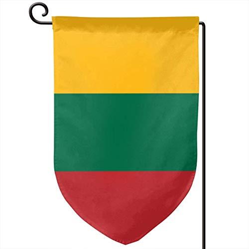 ONGH Bandera de Lituania 12.5 x 18 Pulgadas Bandera de jardín Impermeable Patio de Doble Cara Decorativo al Aire Libre