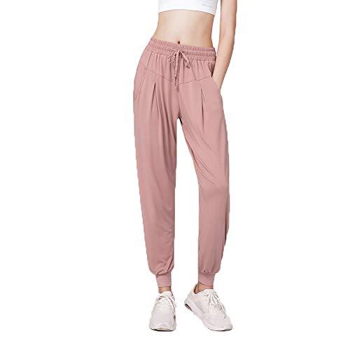 PengBO Pantalones de chándal para Mujer Casual Sweetpants Moda con Bolsillos con atlética con cordón para Ejercicios de Entrenamiento,Rosado,L