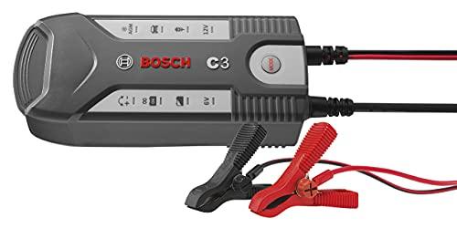 Bosch C3 - intelligentes und automatisches Batterieladegerät - 6V-12V / 3.8A - für Blei-Säure, GEL, Start/Stopp EFB, Start/Stopp AGM-Batterie für Motorräder, Pkw, Kleintransporter