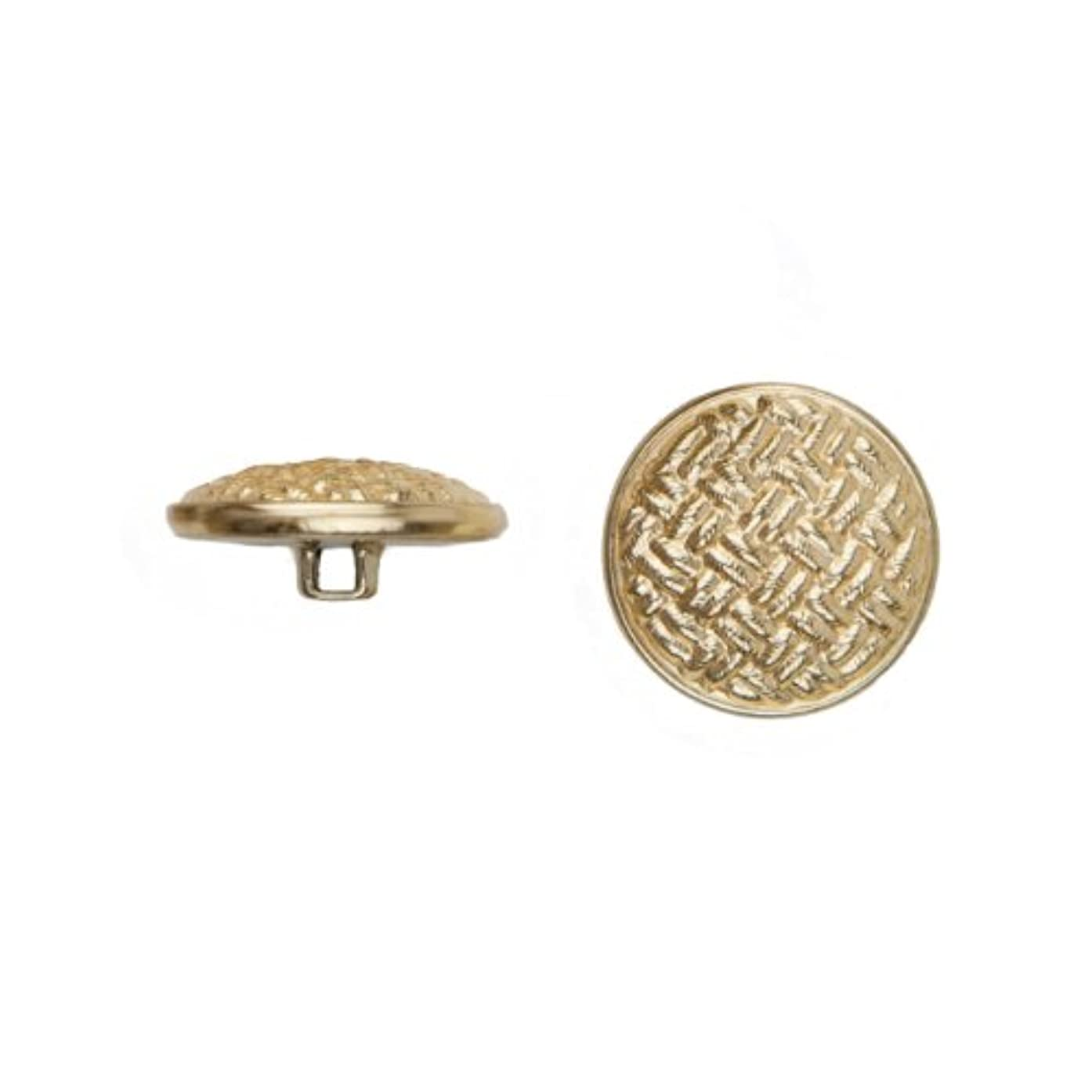 C&C Metal Products 5037 Weave Metal Button, Size 30 Ligne, Gold, 36-Pack