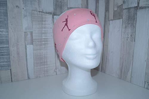 Stirnband Eiskunstlauf Training, Figuren, apricot, 95% Baumwolle, 5% Elasthan