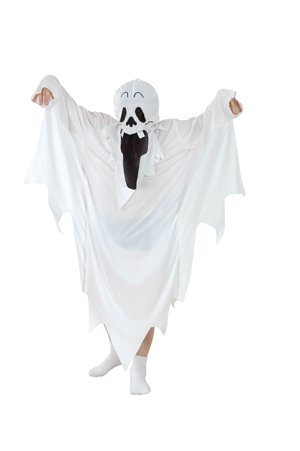 Halloween fantasma Monster Disfraz infantil, weiß, 10-12J
