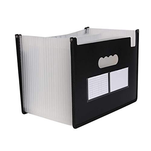 YQG Organizador de Carpetas de Documentos A4 Tamaño Carta A4 Soporte de Archivo Plegable Organizador de Archivos de acordeón Carpeta de extensión para la Oficina de la Escuela (Color: Negro, Tam