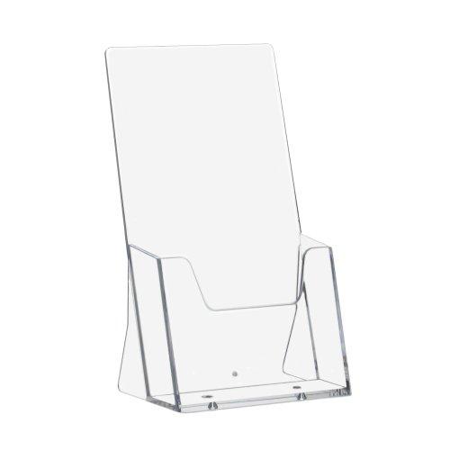 10 Stück DIN Lang (99x210mm) Prospekthalter/Prospektständer/Flyerhalter/Flyerständer/Tischprospekthalter im Hochformat