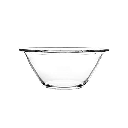 Fruit Salad Bowl Mixing Bowl Noodle Bowl Large Capacity Transparent Glass Bowl 3 Sizes Can Choice (Color : Clear, Size : 21.511cm)
