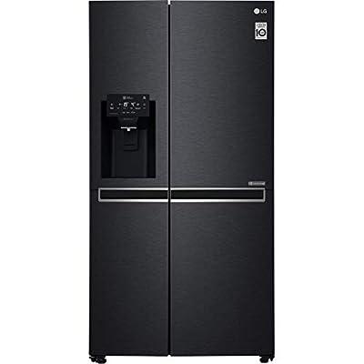 LG GSL760MCXV American Style Fridge Freezer With Plumbed Ice & Water - Matte Black