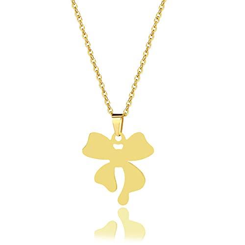 YQMR Colgante Collar para Mujer,Collar De Mujer Elegante Moda Grabado Hueco Diseño Clásico Arco Colgante De Oro Joyería Mamá Cumpleaños Amistad Familia