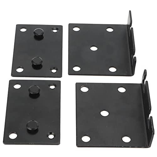 Soporte de hardware, bisagra de cama Material de hierro con placa de hierro engrosada para barandilla de cama para marco de cama de madera