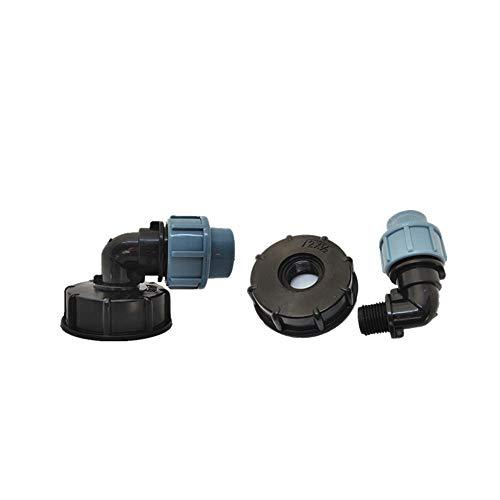 Connecteur de valve coudé pour réservoir d'eau S60 x 6 IBC 20/25/32 mm