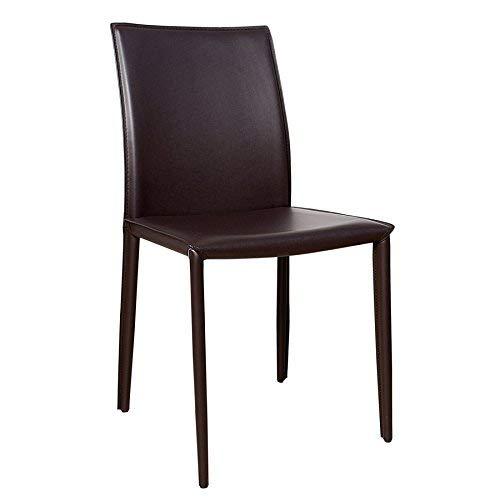 Invicta Interior Stuhl Milano ECHT Leder Coffee Ziernaht Stühle Esszimmer Esszimmerstuhl