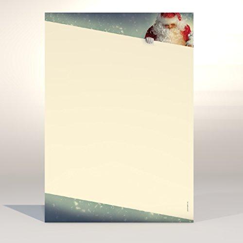 Kerstbriefpapier Kerstman, A4, 100 vellen kerstbriefpapier